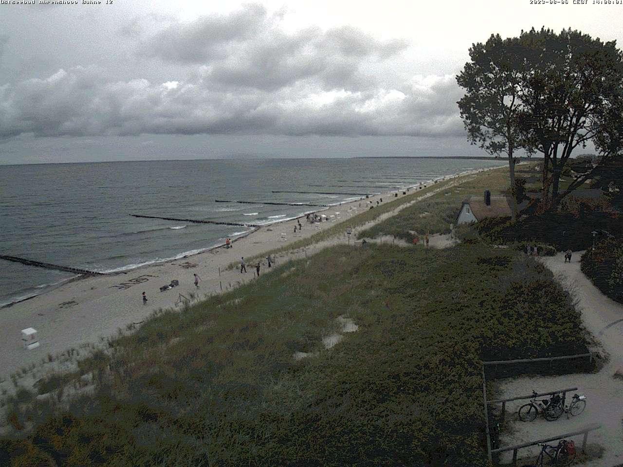 Webcam mit Blick auf die Ostsee und dem Grenzweg